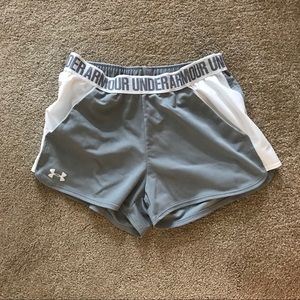 White and grey Under Armour shorts